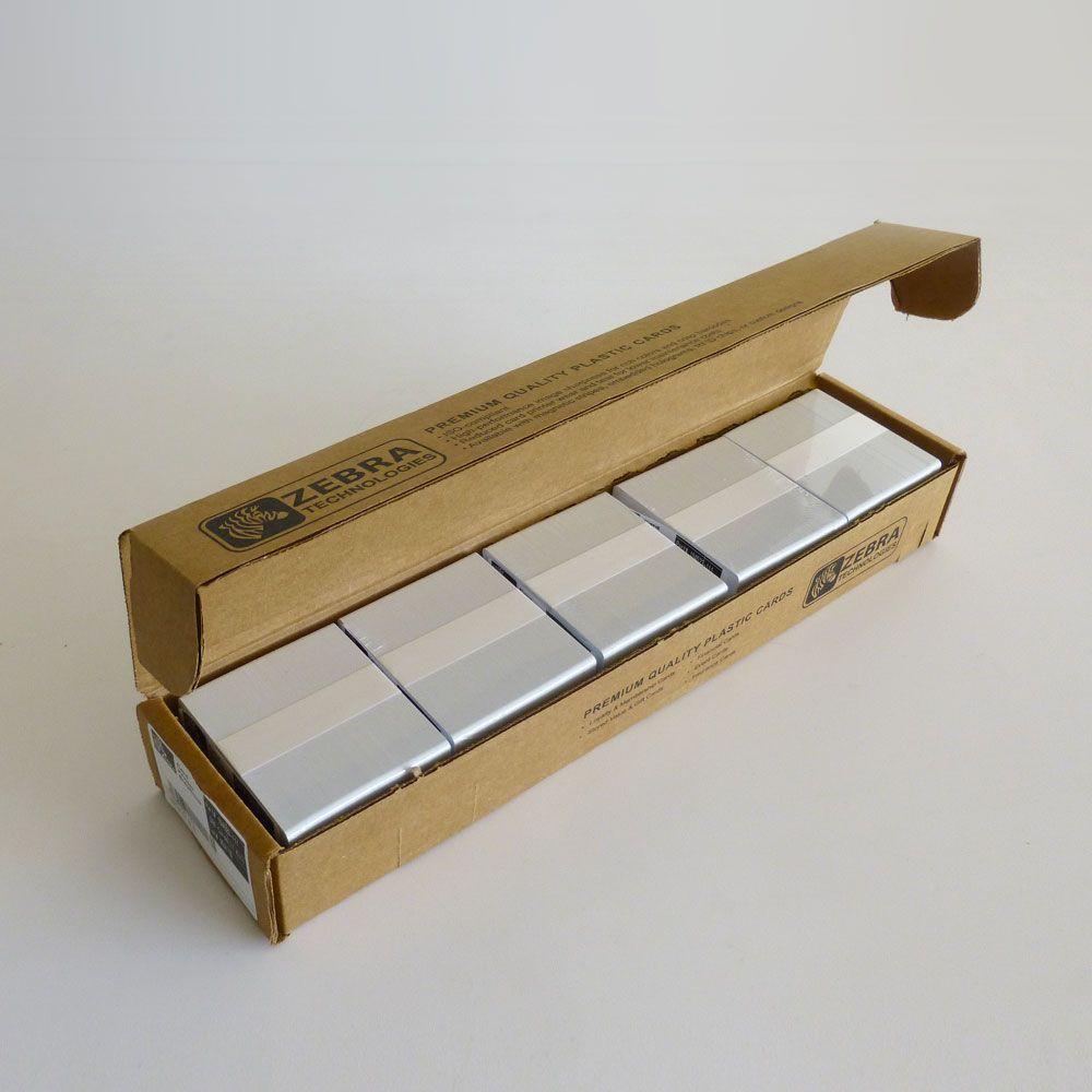 500 cartes economique en pvc blanc 0 76mm myzebra - Jardiniere pvc blanc ...