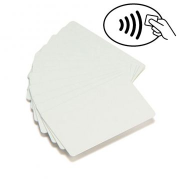 Carte Zebra PVC blanc Mifare Ultralight, Philips